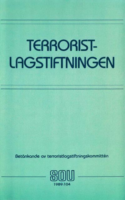Omslaget till SOU 1989:104