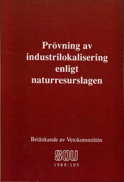 Omslaget till SOU 1989:105