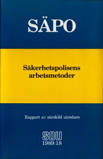 Omslaget till SOU 1989:18