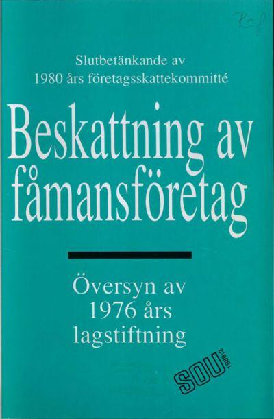 Omslaget till SOU 1989:2