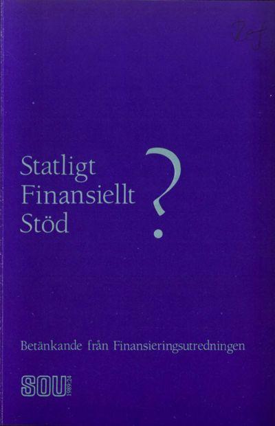 Omslaget till SOU 1989:24