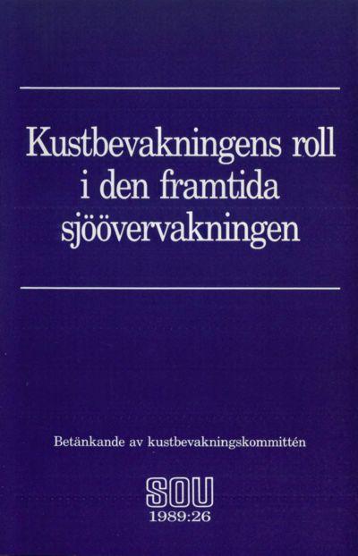 Omslaget till SOU 1989:26