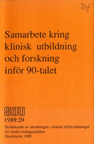 Omslaget till SOU 1989:29