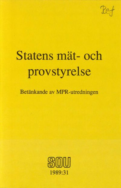 Omslaget till SOU 1989:31