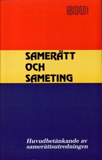 Omslaget till SOU 1989:41