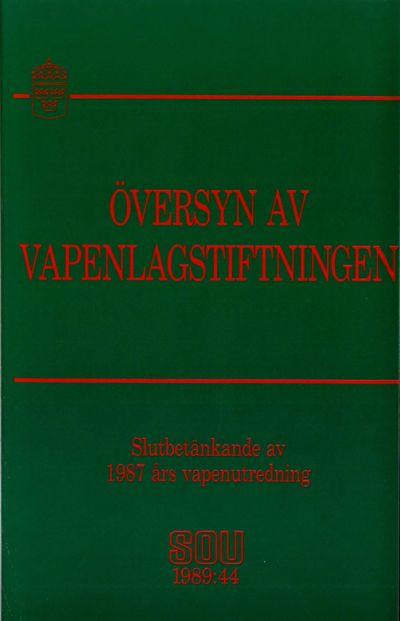 Omslaget till SOU 1989:44