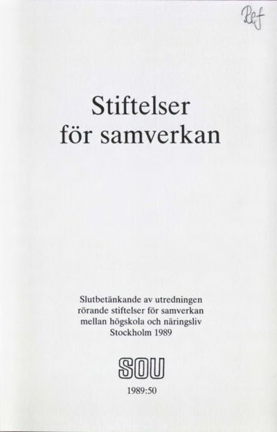 Omslaget till SOU 1989:50
