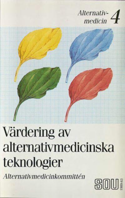 Omslaget till SOU 1989:63