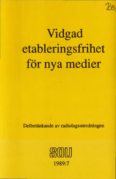 Omslaget till SOU 1989:7