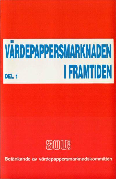 Omslaget till SOU 1989:72