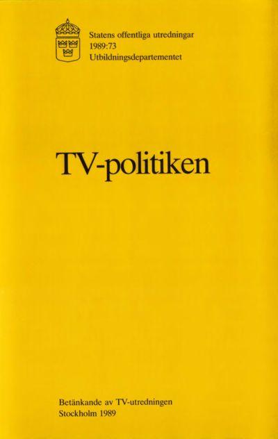 Omslaget till SOU 1989:73