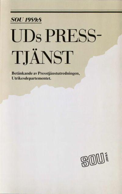 Omslaget till SOU 1989:8