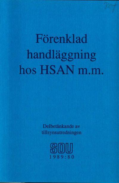 Omslaget till SOU 1989:80