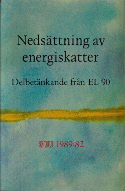 Omslaget till SOU 1989:82