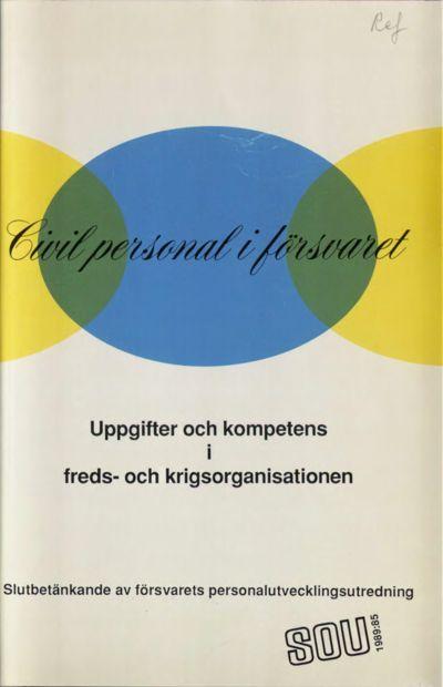 Omslaget till SOU 1989:85