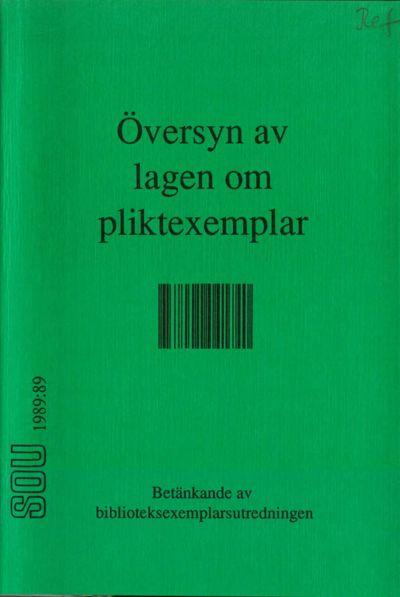 Omslaget till SOU 1989:89
