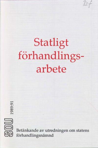 Omslaget till SOU 1989:91