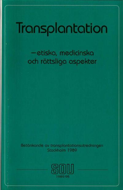 Omslaget till SOU 1989:98