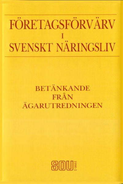 Omslaget till SOU 1990:1