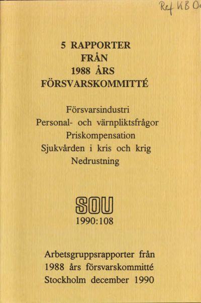 Omslaget till SOU 1990:108