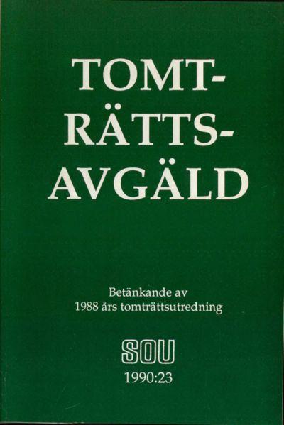Omslaget till SOU 1990:23