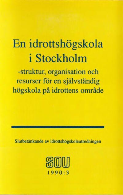 Omslaget till SOU 1990:3