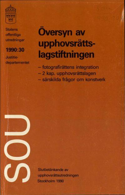 Omslaget till SOU 1990:30