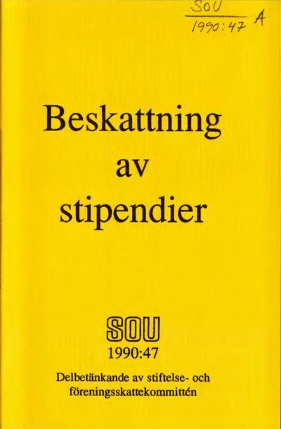 Omslaget till SOU 1990:47