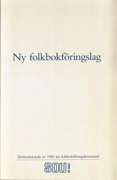Omslaget till SOU 1990:50