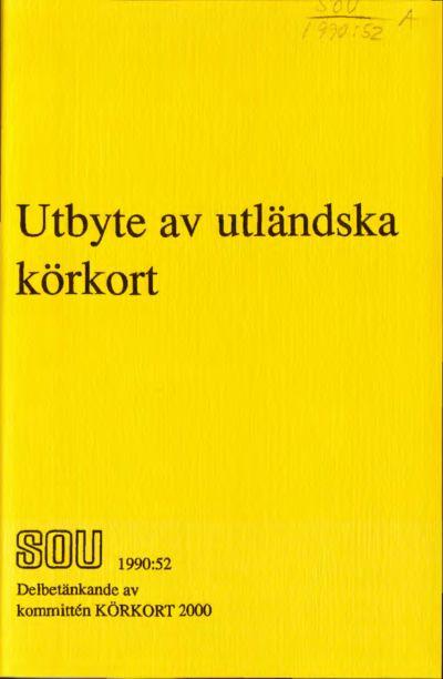 Omslaget till SOU 1990:52