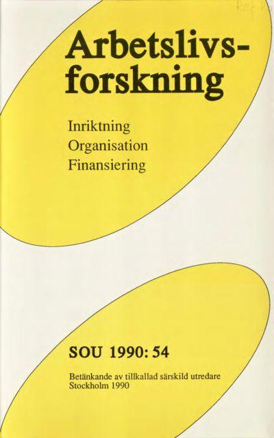 Omslaget till SOU 1990:54