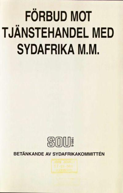 Omslaget till SOU 1990:6