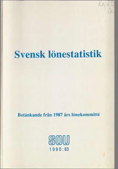 Omslaget till SOU 1990:63