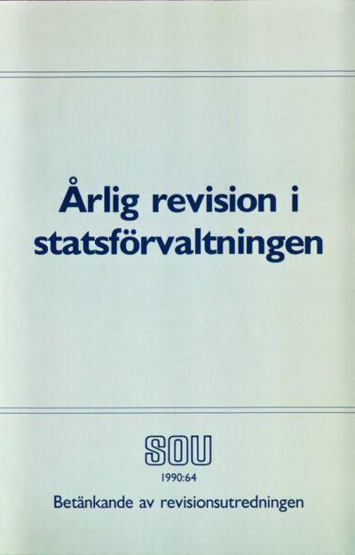 Omslaget till SOU 1990:64