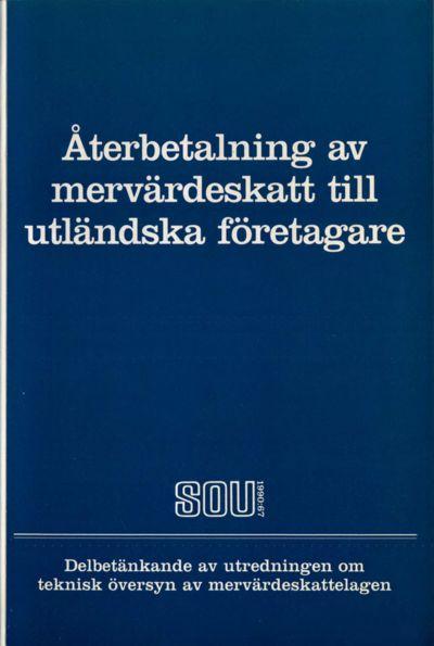 Omslaget till SOU 1990:67