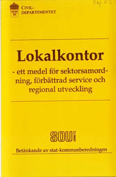 Omslaget till SOU 1990:72