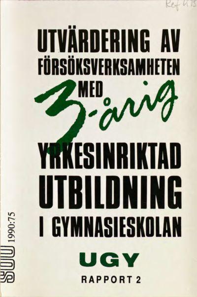 Omslaget till SOU 1990:75