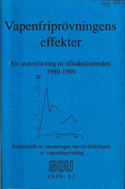 Omslaget till SOU 1990:81