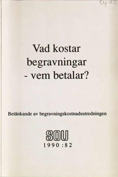 Omslaget till SOU 1990:82