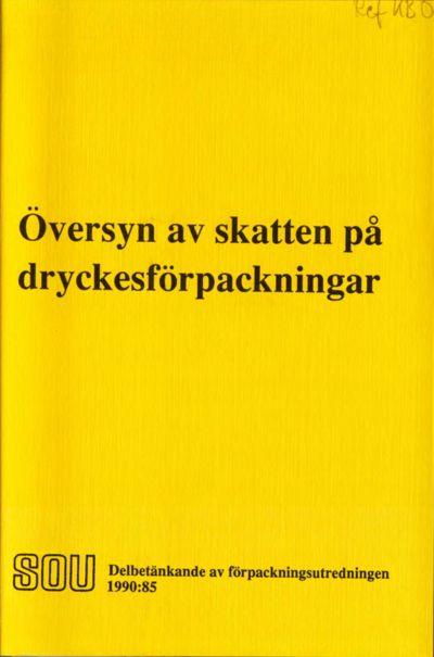Omslaget till SOU 1990:85