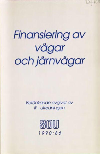 Omslaget till SOU 1990:86