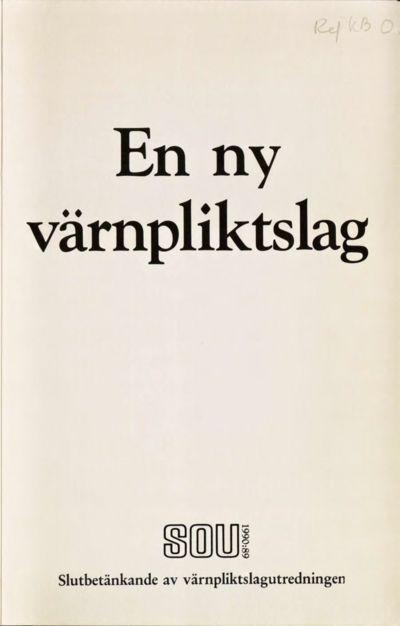 Omslaget till SOU 1990:89