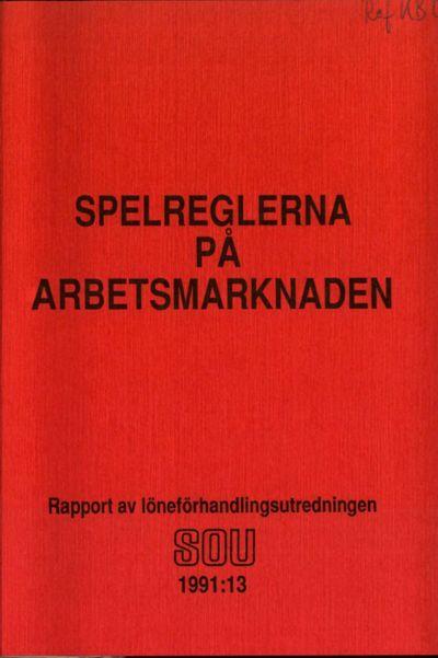 Omslaget till SOU 1991:13