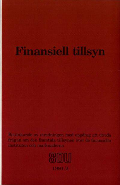 Omslaget till SOU 1991:2