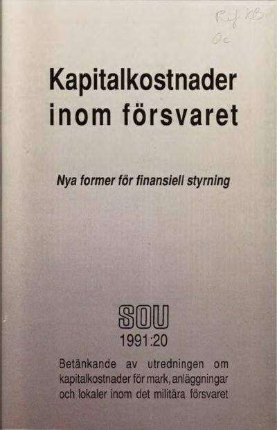 Omslaget till SOU 1991:20