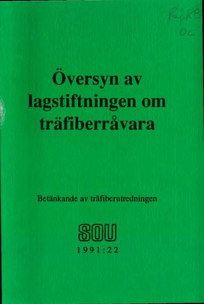 Omslaget till SOU 1991:22