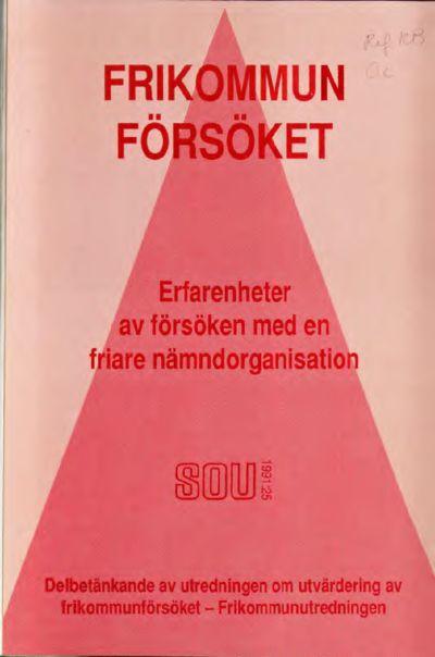 Omslaget till SOU 1991:25