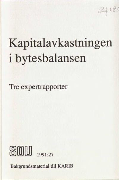 Omslaget till SOU 1991:27