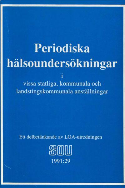 Omslaget till SOU 1991:29