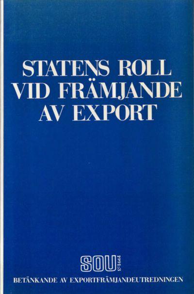 Omslaget till SOU 1991:3